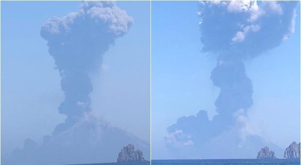 Photo of Stromboli, impressionante eruzione: turisti spaventati in fuga