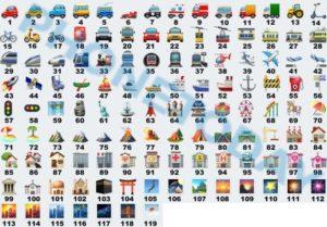 emoticon-whatsapp-significato-veicoli-luoghi