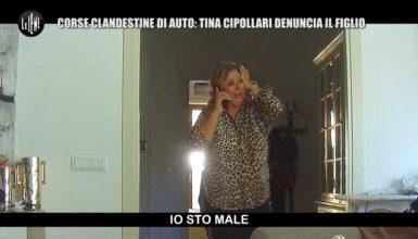 Le Iene, terribile scherzo a Tina Cipollari: il figlio fa le gare clandestine e lei lo denuncia