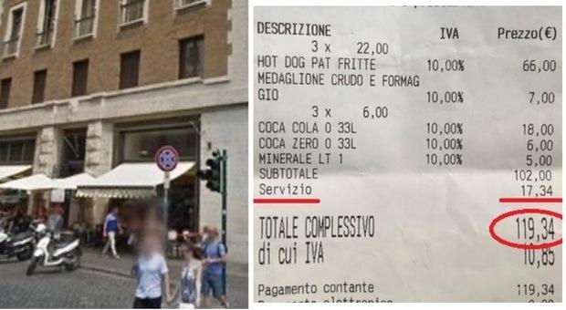 Photo of Roma, scontrino al bar da 120 euro per 3 panini: scoppia la polemica