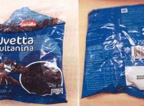 Photo of Uvetta sultanina dell'Eurospin richiamata: rischio chimico
