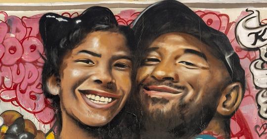 Photo of Kobe Bryant e la sua piccola Gianna per sempre insieme in un murale