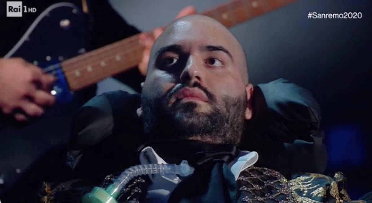 A Sanremo, Paolo Palumbo, cantante malato di Sla