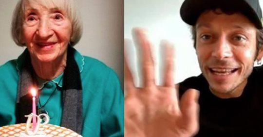 Photo of Guarisce dal coronavirus a 102 anni e Valentino Rossi realizza il sogno di nonna Lina