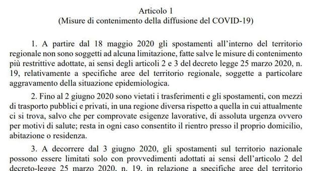 bozza-decreto-18-maggio-fase-2-spostamenti-coronavirus