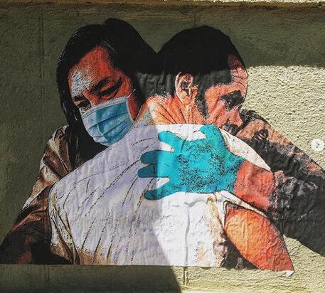 Allo Spallanzani, realizzato dallo street artist Harry Greb murales