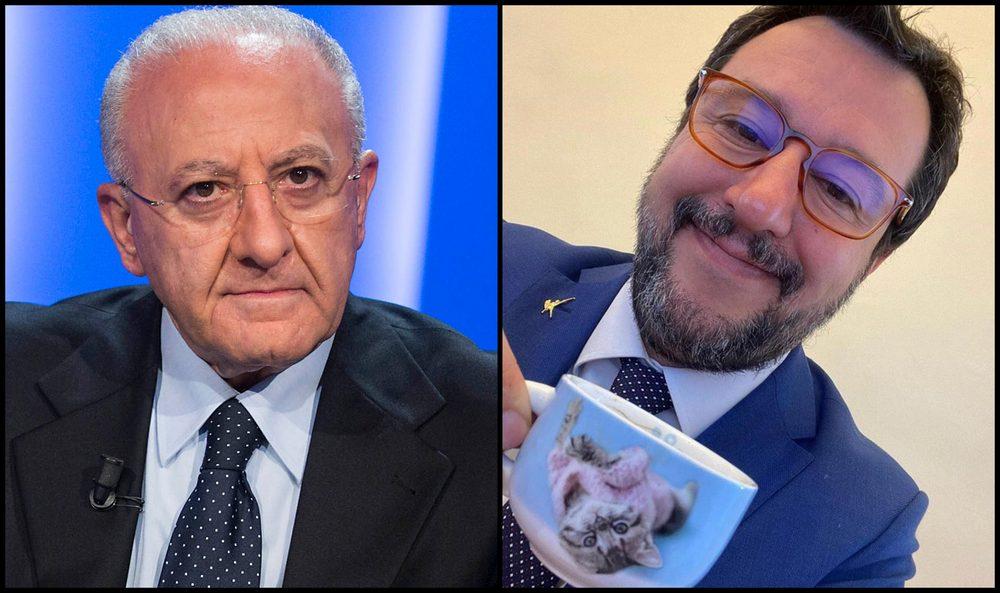 """Photo of Salvini in Campania: """"Niente caffè con De Luca, non gli piacciono i miei occhiali"""""""