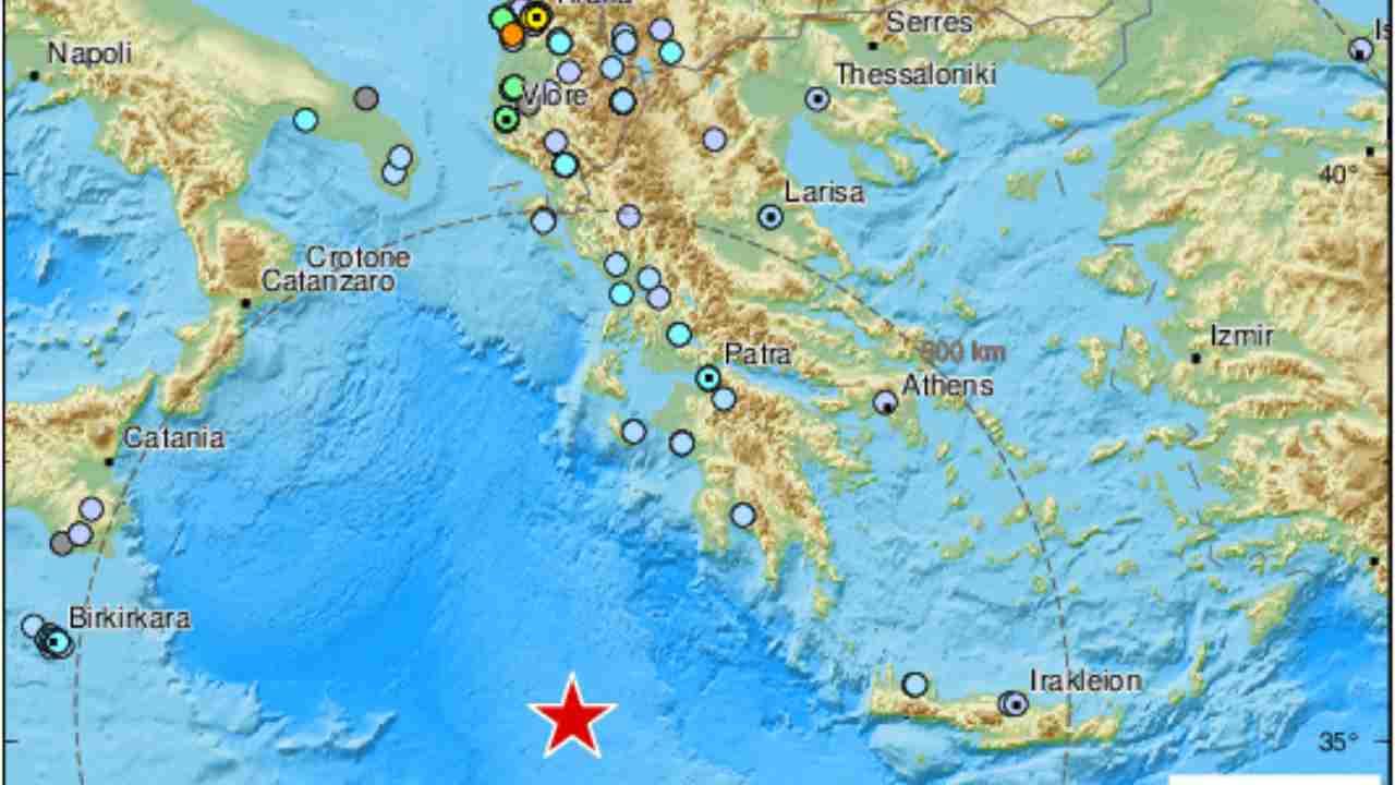 Photo of Terremoto nel Mediterraneo: scossa di magnitudo 5.5 avvertita anche al Sud Italia
