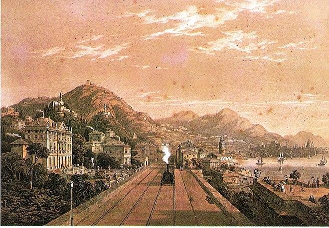 Dinegro-inaugurazione_ferrovia_1854