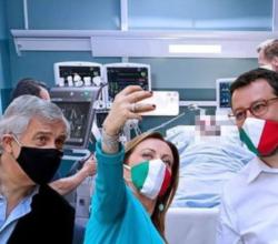 selfie-salvini-meloni-tajani-malato-covid