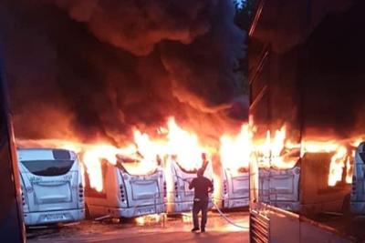 roma-sette-autobus-fiamme-atac-magliana