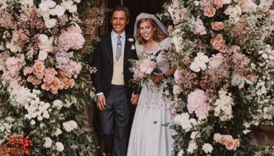 Gran Bretagna: il Royal Wedding di Beatrice di York, indossa un abito vintage e la tiara della Regina Elisabetta