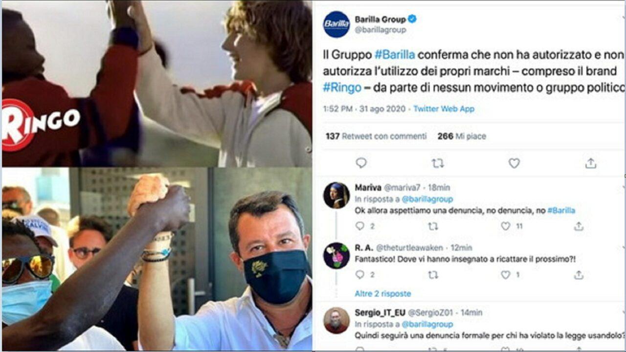 """Photo of """"Uniti si vince"""": la Lega usa l'immagine dello spot Ringo. I social attaccano Barilla, che replica: """"Mai dato l'autorizzazione"""""""