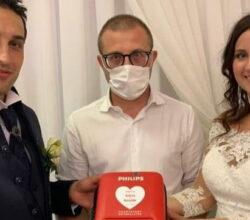sposi matrimonio Bergamo defibrillatore