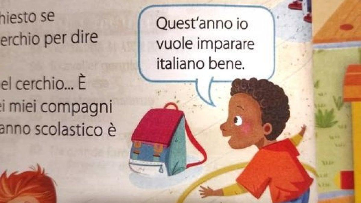 """Photo of Bufera sul manuale scolastico delle elementari: """"Io vuole imparare italiano bene"""""""