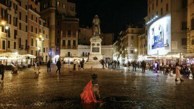 prima-notte-coprifuoco-roma-proteste-campo-fiori