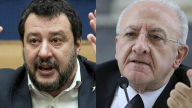"""Photo of Salvini contro De Luca: """"Per mesi ha fatto il gradasso, Campania a un passo dalla tragedia"""""""