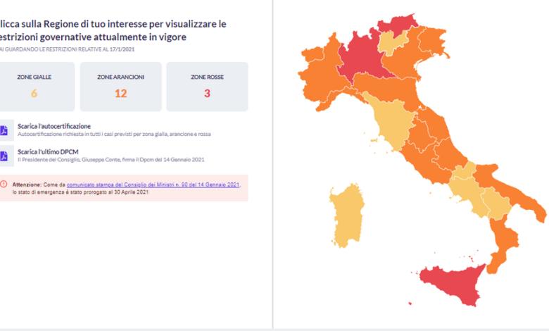 covid-regole-zone-italia-sito-aggiornato-ogni-giorno