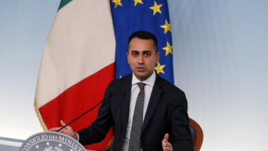 talian Deputy Premier Luigi Di Maio press conference