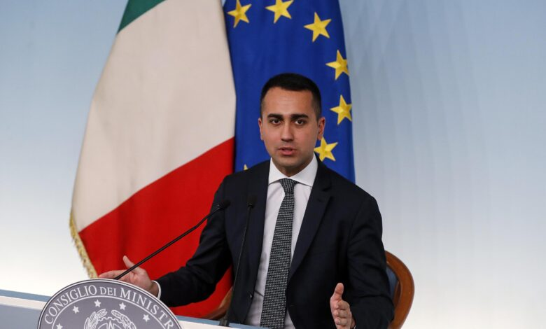 talian Deputy Premier Luigi Di Maio press conference