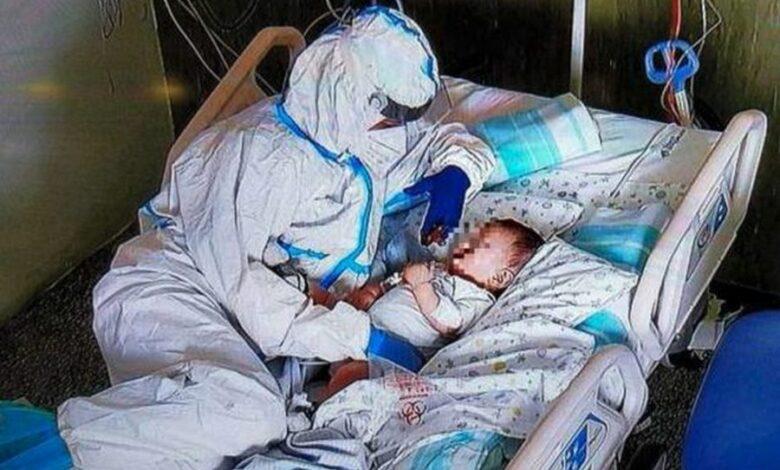 bambino-7-mesi-covid-infermiera-foto-ancona
