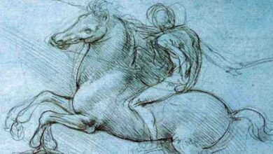 Leonardo monumento equestre sforza