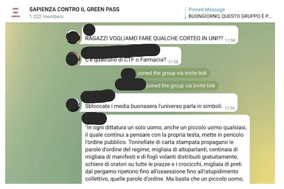 gruppo-telegram-sapienza-contro-green-pass-bufale-covid